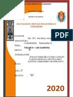 GIANFRANCO SANTOS TALLER II  LAS CUENTAS