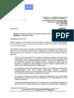 Concepto Jurídico 202111600139441 de 2021