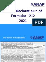 Ghid Declaratia Unica 2021