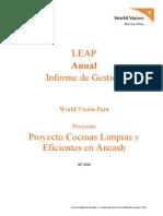 Inf Anual- Py_AF16 Cocinas Limpias y Eficientes en Ancash