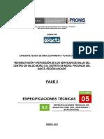 ESPECIFICACIONES TECNICAS ARQUITECTURA- CENTRO DE SALUD MORO