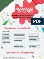 ADOLESCENTES DE 13 – 19 AÑOS.