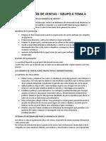 GRUPO 4 - PLANEACIÓN DE VENTAS