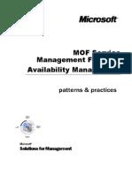 MOF SMF Availability Management