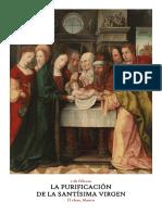 2 de Febrero. Fiesta de la Purificación de la Santísima Virgen María