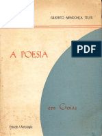 A poesia em Goiás (Org. Gilberto Mendonça Telles)