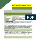ANALISIS DE SENTENCIAS C157-13 Y C279-13