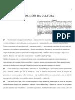 AS ORIGENS DA CULTURA