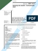 NBR 14077 - 1998 - Segurança Do Usuário - Comunicação Visual