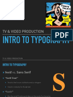 tv   video intro to typography lesson