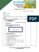 Proforma Autorizada Con Descuento No. 1665 Constructora Ramos -Torre de Laparascopia y Generadores Electroquirurgicos- 26enero2021