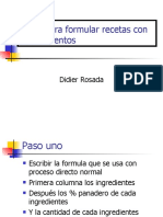 Calculation pasos por formulas con prefermentos