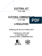 Electoral Act 73 of 1998 as Amended