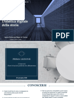 Didattica Digitale Della Storia, Master in Comunicazione Storica Lezioni 1,2,3 DEFINITIVO