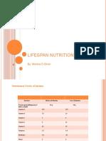 Lifespan Nutrition Needs