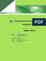Netgear FVS114 VPN Router & GreenBow IPsec VPN Software Configuration
