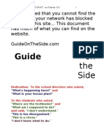 1 GOTS the Website Jan. 2011 a Rough Draft by Steve McCrea   Guide on the Side