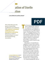 Validation of Sterile Filtration article