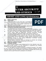 Chapter 6 Computer Security and Ethics – Notes
