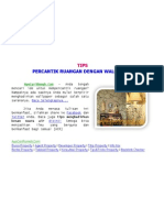 [AyoCariRumah.Com] Tips Percantik Ruangan Dengan Wallpaper, Beautify Room With Wallpaper