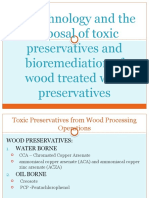 Biotechnology and the disposal of toxic preservatives
