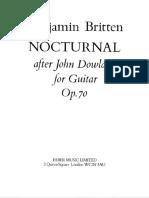 BRITTEN - Nocturnal Op 70 (Ed Faber Music, Rev Bream) (Guitar - Chitarra)