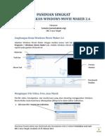 Panduan Singkat Windows Movie Maker 2.6