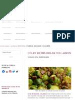 Coles de Bruselas con JAMON - cocina