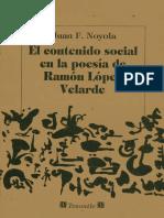 Juan F. Noyola EL CONTENIDO SOCIAL EN LA POESÍA DE RAMÓN LÓPEZ VELARDE