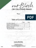 Bloch - Musica per violoncello e pianoforte (piano part)