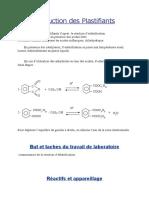 Production Des Plastifiants