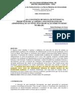 INFLUÊNCIA DA CONCESSÃO DE BOLSA DE ESTUDOS NA