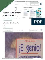 ¡EL GENIO! LA ESPECIE HUMANA CREADORA - Mauro Torres.pdf _ Intuición _ Creatividad