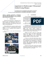 Anaesthesia Management in Endoscopic Ultrasound Guided Lung Biopsy