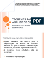 TEOREMAS PARA ANALISE DE CIRCUITOS