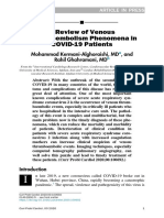 A Review of VTE in COVID