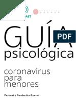 Guía psicológica coronavirus para menores PSYCAST.es