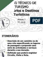 MODULO 7 - Itinerários e Destinos Turísticos