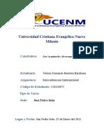 El entorno dinámico del comercio internacional, Nelson Bautista 118140071