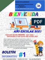 Boletin Informativo 1 NUESTRA SEÑORA de LA PAZ Area de Psicorientación