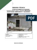 Presentación Memoria Técnica Mausoleo Alejo Palma Aguayo Hernández Madrid