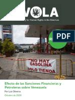 Efecto de las sanciones financieras y petroleras sobre Venezuela