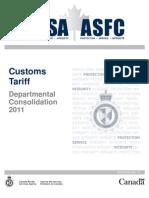 Custom Tariff 2011