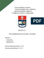 Informe 2 - CP- Hidráulica Básica - Viscosidad