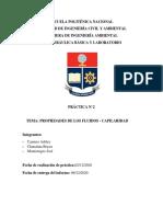 Informe 2 - CP-Hidráulica Básica - Capilaridad