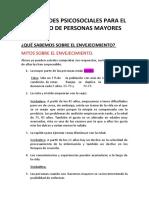 HABILIDADES PSICOSOCIALES PARA EL CUIDADO DE PERSONAS MAYORES