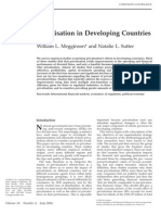 Privatization in Developing Countries Meggison