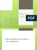 Ethics and Values