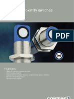 CONTRINEX-Ultrasonic-Proximity-Switches