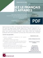 Brochure_La Correspondance Des Affaires en Français
